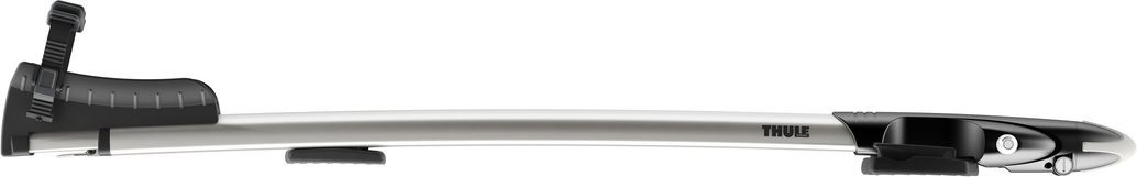 Крепление Thule Sprint, для перевозки велосипеда за вилку переднего колеса на крыше автомобиля. 569569Крепление Thule Sprint предназначено для перевозки велосипеда за вилку переднего колеса на крыше автомобиля.Особенности:- Запатентованная зажимная головка AcuTight имеет ограничитель крутящего момента, который щелкает при достижении оптимального крепления велосипедной рамы.- Рекомендуемая опция для транспортировки на крыше велосипедов с рамами из хрупких материалов (например углепластик).- Эластомеры с технологией амортизации дороги (RDT) встроены в крепления багажника, чтобы смягчать удары от неровностей дороги и вибрацию.- Фиксирующий колеса ремень с храповым механизмом и технологией RDT защищает заднее колесо без повреждения обода.- Противооткатные опоры для усиленной защиты и стабильного положения заднего колеса.- Телескопический желоб для колес, регулируемый в соответствии с конкретным велосипедом и транспортным средством.- Запирает на ключ велосипед на креплении, а крепление на багажнике (фиксаторы включены в комплект).- В комплект включены переходники T-Track (20 x 20 мм) для монтажа багажника велосипеда прямо на на Т-образные пазы рейлингов багажника автомобиля.- Соответствие нормам City Crash.Грузоподъемность: 17 кг.Размеры: 127 x 20 x 10 см.Вес: 4,1 кг.Совместимые размеры круглых рам: все.Совместимые максимальные размеры овальных рам: все.Совместимые максимальные размеры колес : 3.Гид по велоаксессуарам. Статья OZON Гид