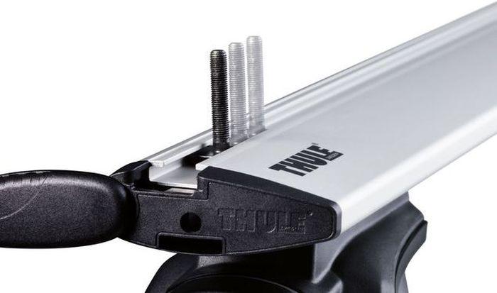 Адаптер Thule, для Т-профиля для крепления корзины к багажнику, 878878Переходник Thule T-Track 878 - Для установки аксессуара прямо в Т-образный паз дуги Aero Bar.