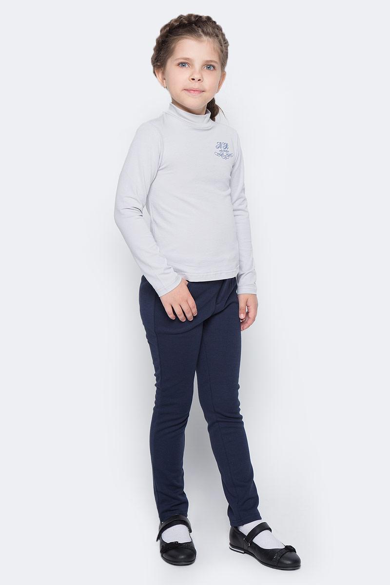 Водолазка для девочки Nota Bene, цвет: серый. CJR27038B20. Размер 152CJR27038A20/CJR27038B20Водолазка для девочки Nota Bene выполнена из хлопкового трикотажа. Модель с длинными рукавами и воротником-стойкой на груди оформлена принтом.