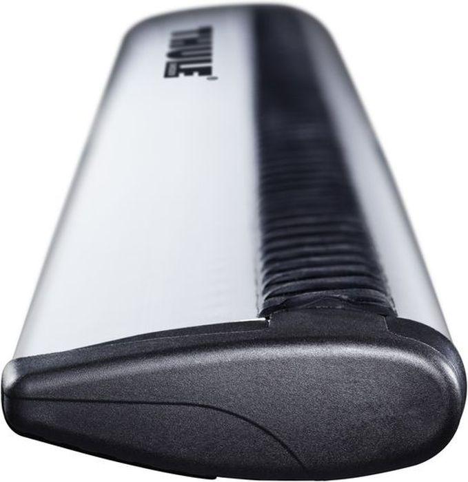 Дуги багажные Thule WingBar, аэродинамические, цвет: серый, черный, длина 118 см, 2 шт. 961961Комплект аэродинамических дуг Thule WingBar - самая надежная и безопасная дуга.Особенности:- С применением авиа технологии для минимизации шума и потребления топлива.- Слегка выгнута для удобной подгонки.- Великолепные аэродинамические свойства, сопротивление движению ниже на 55% по сравнению c предыдущей моделью Thule AeroBar.- WindDiffuse перенаправляет воздушные потоки.- TrailEdg для снижения сопротивления воздуха.- Оснащены Т-образными пазами - уникальное решение с массой преимуществ. Различные приспособления легко устанавливаются на такой паз. Возможно использование всей длины поперечного рейлинга, что дает больше места для установки нескольких приспособлений.- Изделие успешно прошло испытание City Crash до 100 кг согласно нормативам ISO.Длина: 118 см.Максимальная нагрузка: 100 кг (220,5 фунтов). Проверьте также максимально допустимую нагрузку для крыши вашего автомобиля.