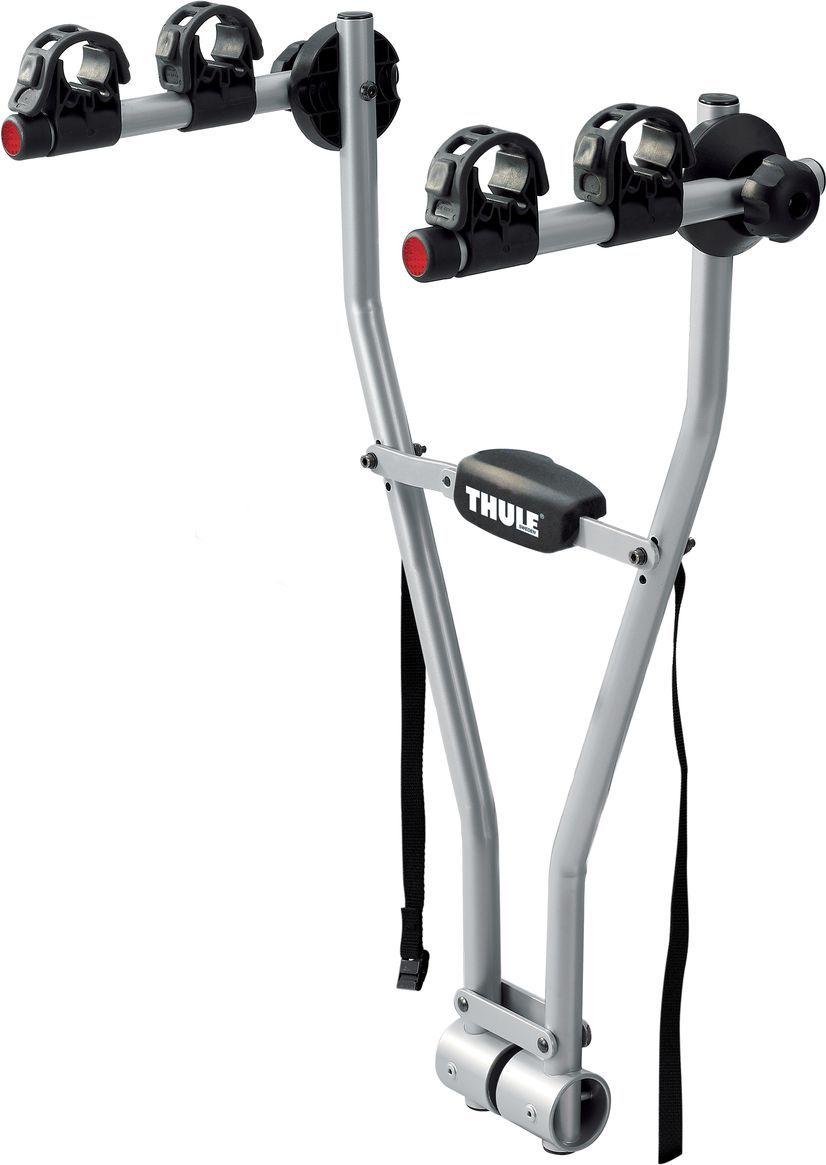 Велобагажник на фаркоп Thule Xpress, для 2-х велосипедов970Велобагажник на фаркоп Thule Xpress - простое, быстрое в установке и легкое в использовании крепление для двух велосипедов.Для фиксации велосипедов на креплении используются эластичные резиновые ремни. Адаптер используется для крепления велосипедов с нестандартными рамами Thule Bike Frame Adapter 982 (женских велосипедов, велосипедов для велотриала или скоростного спуска). Велобагажник компактно складывается для простоты хранения и переноски. Собранный, инструменты не требуются. Максимальное количество велосипедов: 2 Грузоподъемность: 30 кгМаксимальный вес велосипеда: 15 кгРазмеры: 52 x 35 x 75 смРазмеры в сложенном виде: 9 x 28 x 75 смСовместимые размеры рам: все размеры, начиная с 20-дюймовых детских велосипедов.