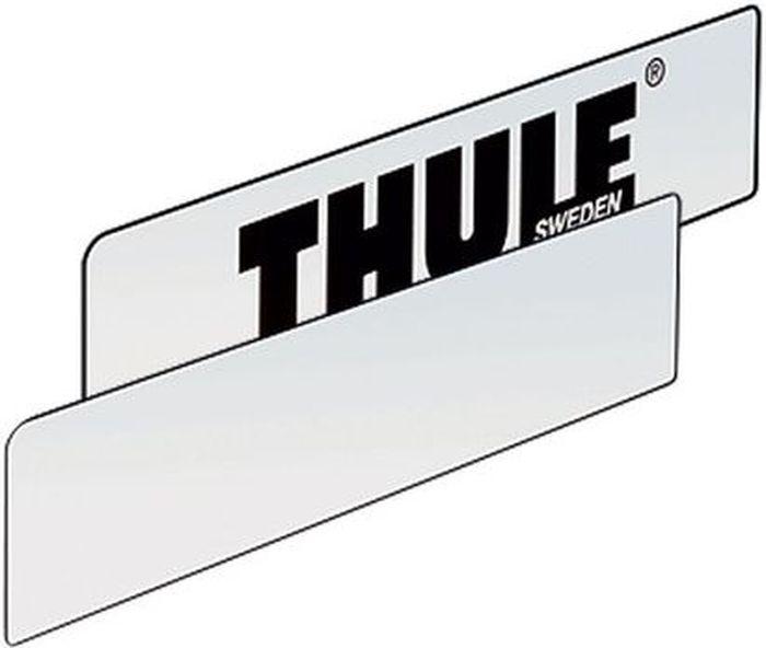 Знак номерной Thule, для велобагажника. 976-2976-2Номерной знак Thule для велобагажника - пустая табличка для крепления к держателю номерных знаков на багажниках для велосипедов. Если это не противоречит национальному законодательству, то вы можете написать номер от руки или воспользоваться наклейками.