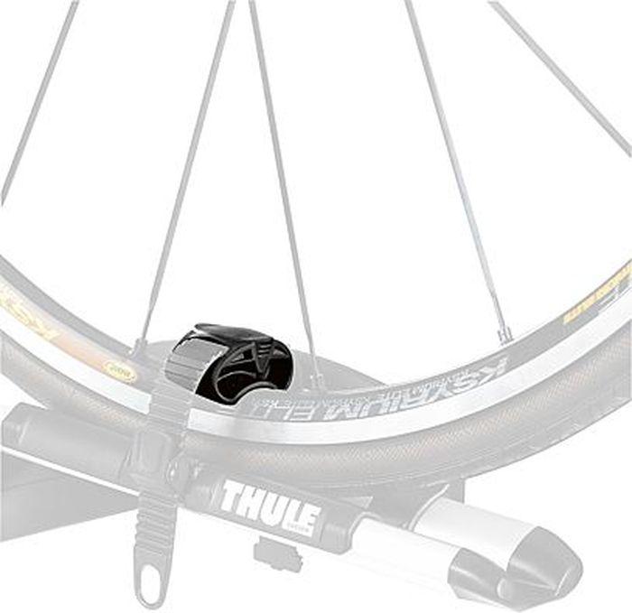 Защитный переходник Thule, для колеса велосипеда, к насадкам 532/591. 97729772Адаптер для крепления колеса Thule 9772 - Защищает обод колес горных велосипедов и надежно фиксирует колеса шоссейных велосипедов.