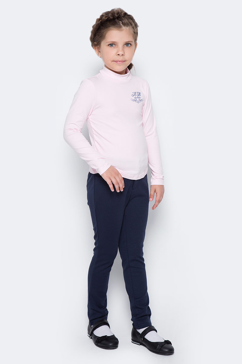 Водолазка для девочки Nota Bene, цвет: розовый. CJR27038B05. Размер 152CJR27038A05/CJR27038B05Водолазка для девочки Nota Bene выполнена из хлопкового трикотажа. Модель с длинными рукавами и воротником-стойкой на груди оформлена принтом.