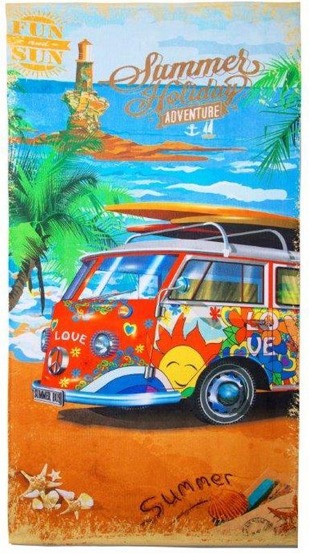 Полотенце Mona Liza Bus, 70 х 140 см mona liza mona liza полотенце 70 140 summer surf