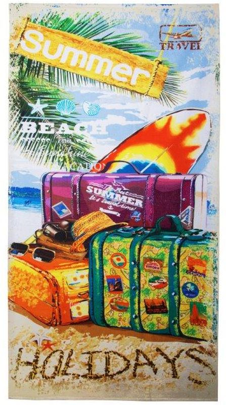 Полотенце банное Mona Liza Voyage, цвет: мультиколор, 70 х 140 см mona liza mona liza полотенце 70 140 summer surf