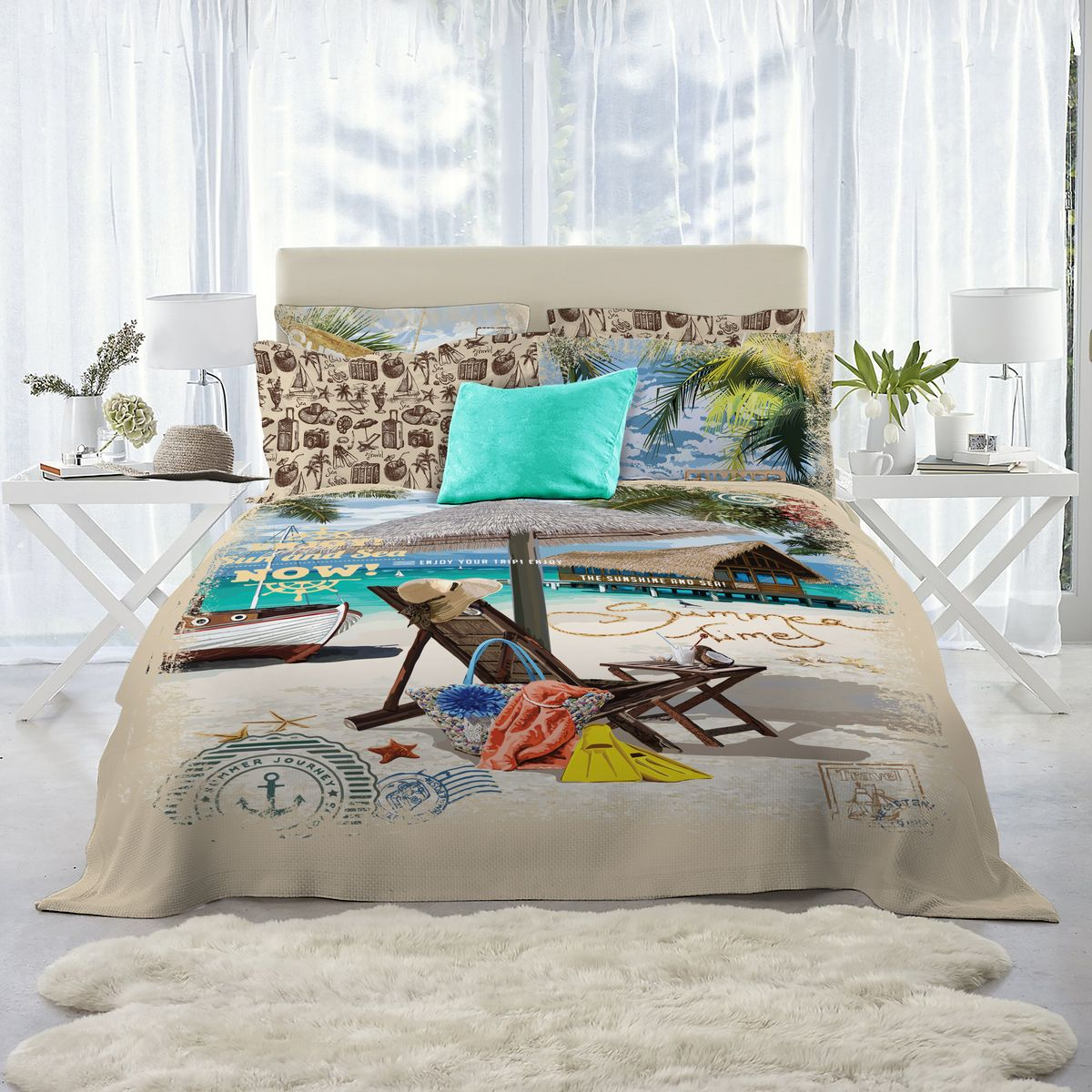 Комплект белья Mona Liza Lounger, 1,5-спальный, наволочки 50х70, 70х70 adjustable rattan sun lounger patio garden beach lounger transport by sea
