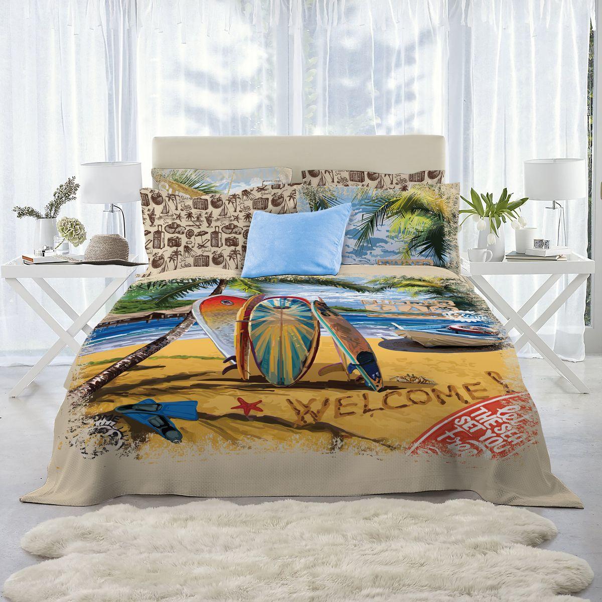 Комплект белья Mona Liza Surf, 2-спальный, наволочки 50х70, 70х70 mona liza mona liza полотенце 70 140 summer surf