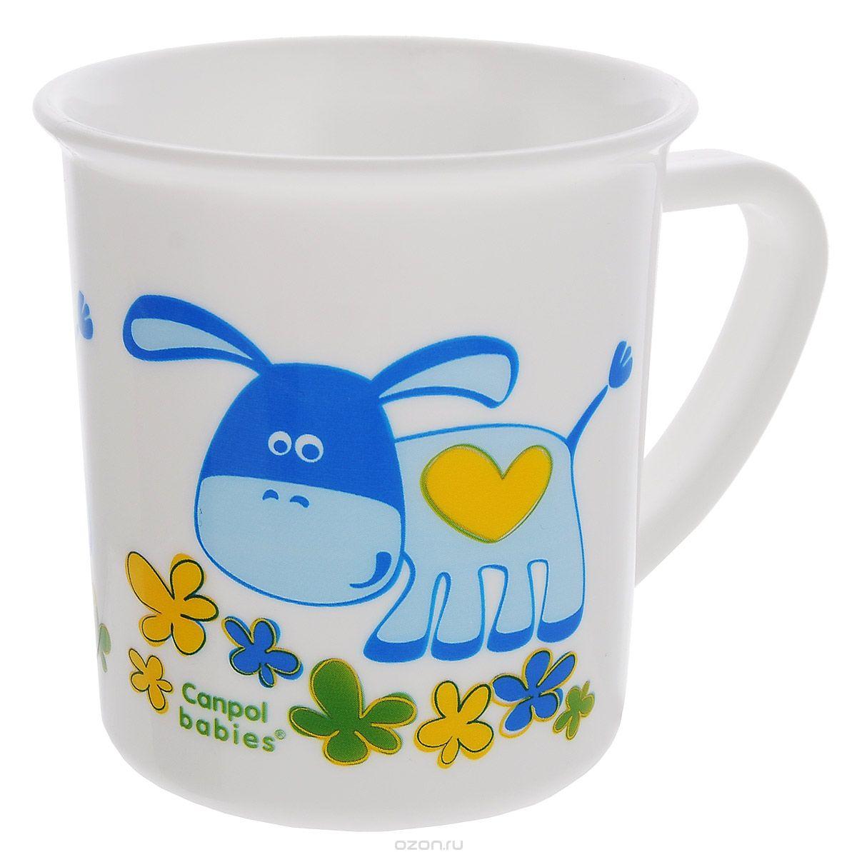 Чашка детская Canpol Babies, цвет: белый4/413Детская чашка Canpol Babies идеально подойдет для малыша, она выполнена из прочного безопасного материала и оформлена изображением забавного ослика. Удобная ручка позволит малышу самостоятельно держать чашку. Характеристики: Размер чашки: 9 см х 7,5 см х 7 см. Изготовитель: Китай.
