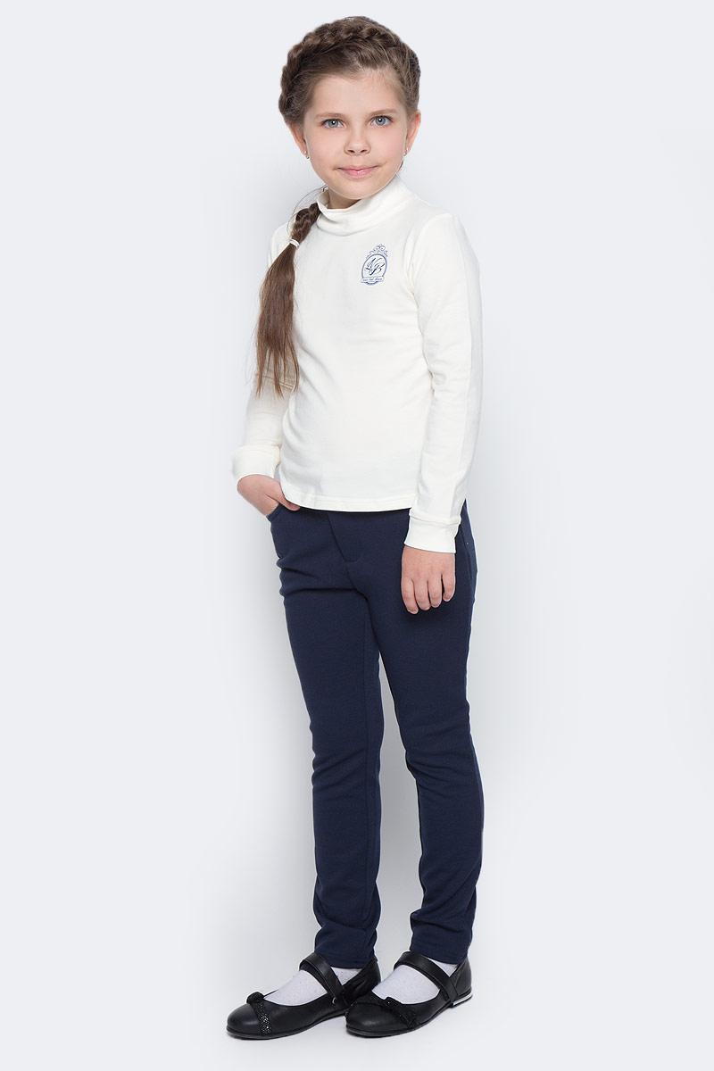 Водолазка для девочки Nota Bene, цвет: молочный. CJR27039A17. Размер 122CJR27039A17/CJR27039B17Водолазка для девочки Nota Bene выполнена из хлопкового трикотажа. Модель с длинными рукавами и воротником-стойкой на груди оформлена принтом.