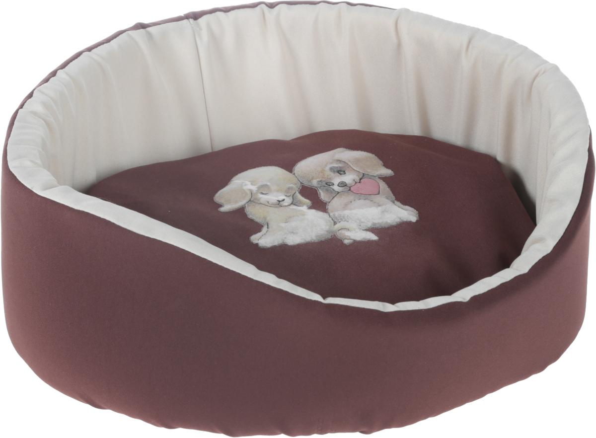 Лежак для животных GLG, цвет: коричневый, бежевый, 40 х 35 х 15 смL003/AЛежак для животных GLG обязательно понравится вашему питомцу. Внешняя поверхность изделия выполнена из высококачественного материала. В качестве наполнителя используется поролон, который прекрасно держит форму. Основание отделано нетканым волокном. Лежак дополнен мягкой съемной подушкой с синтепоном внутри. Лежак GLG станет излюбленным местом вашего питомца, подарит ему спокойный и комфортный сон, а также убережет вашу мебель от шерсти. Подходит для кошек и собак.УВАЖАЕМЫЕ КЛИЕНТЫ!Обращаем ваше внимание на возможные изменения в дизайне товара - рисунок может отличаться от изображения, представленного на сайте. Поставка осуществляется в зависимости от наличия на складе.