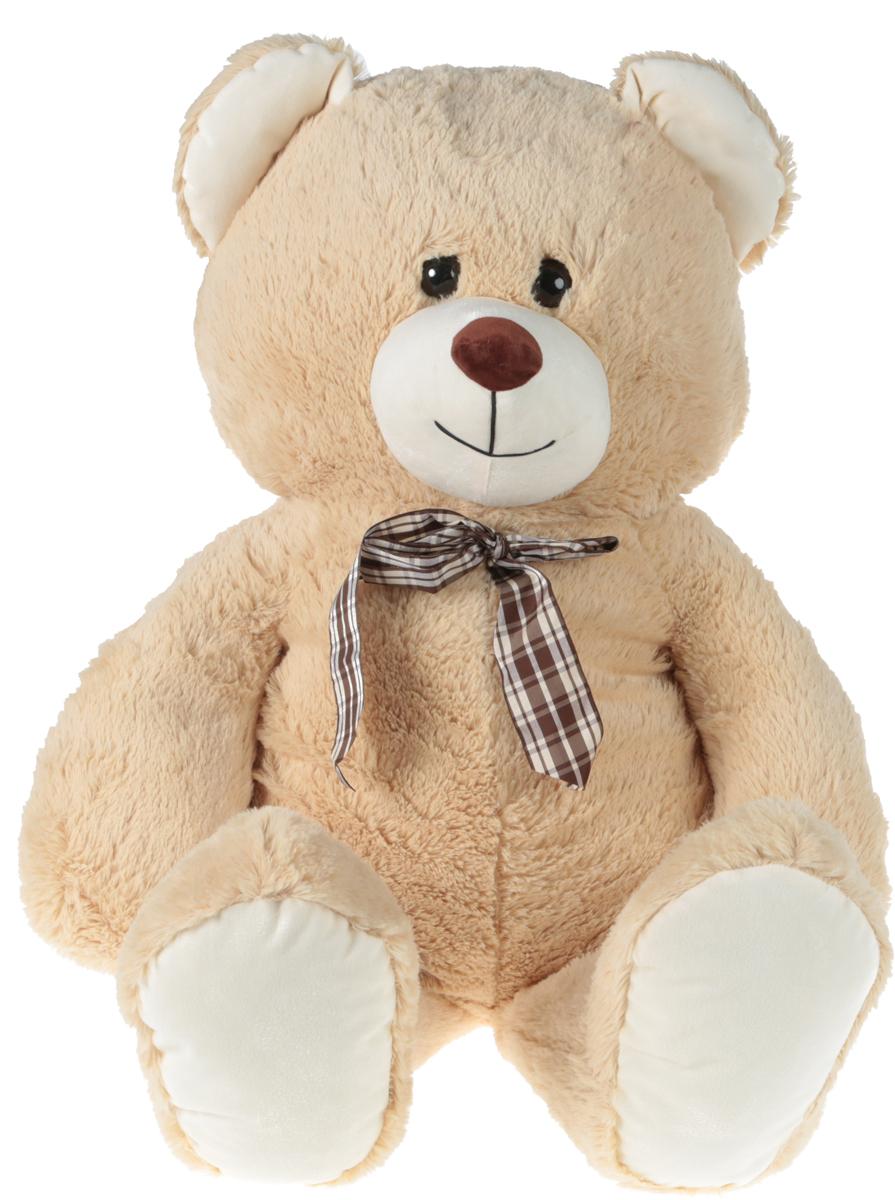 СмолТойс Мягкая игрушка Медведь цвет бежевый с бантиком 103 см смолтойс мягкая игрушка антистресс кевин 19 см
