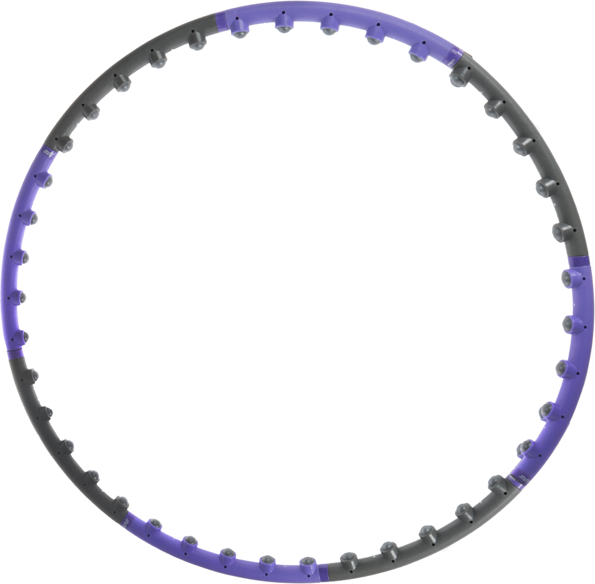 Обруч массажный  Starfit , разборный, цвет: фиолетовый, серый, диаметр 98 см - Инвентарь