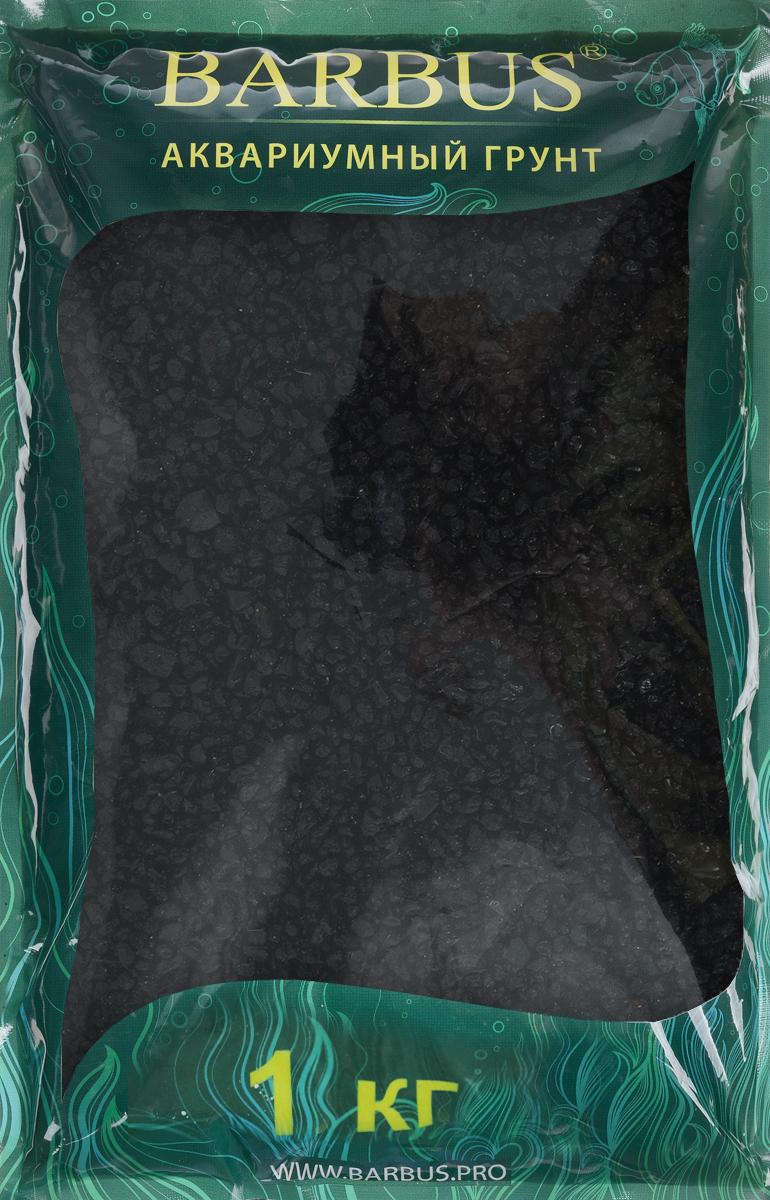 Грунт для аквариума Barbus Премиум, натуральный, кварц, цвет: черный, 2-4 мм, 1 кг щетка аквариумная barbus 1 магнитная всплывающая