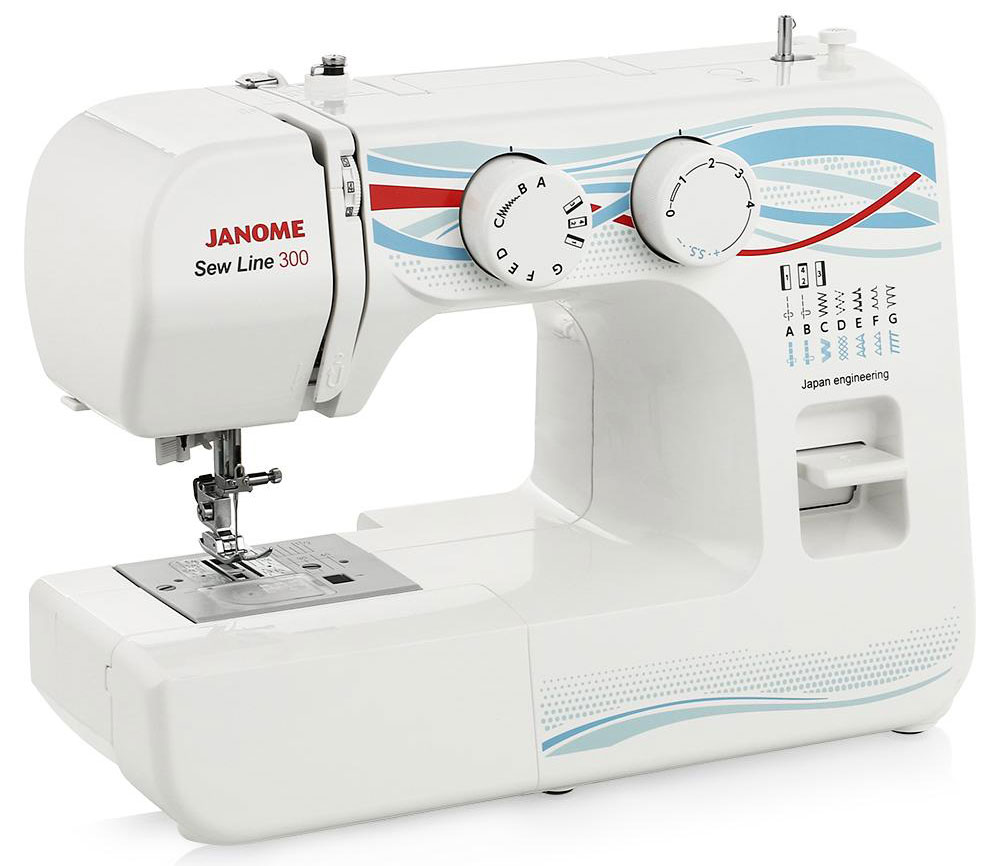 Janome Sew Line 300 швейная машина швейная машина janome sew dream 510