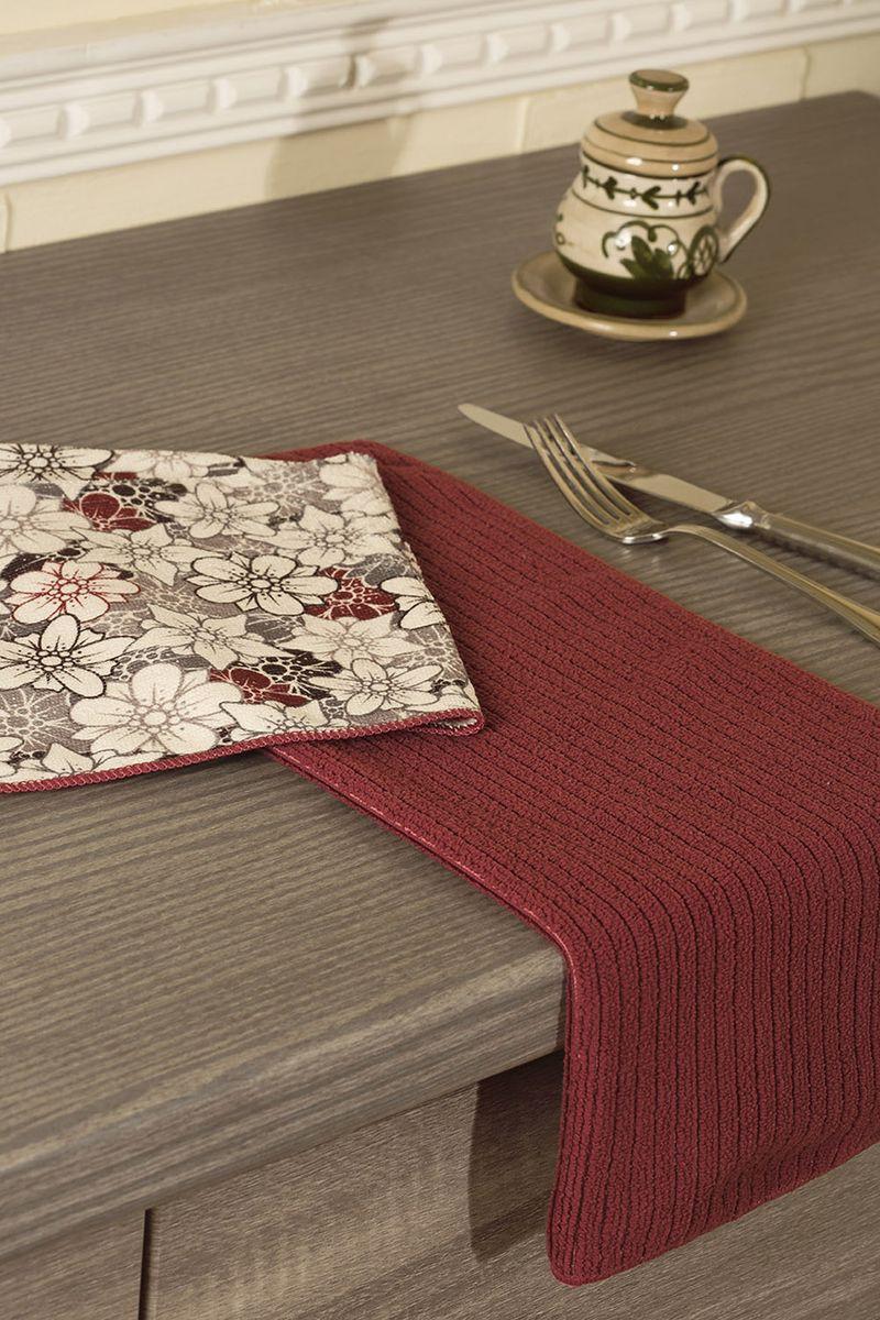 Набор кухонных полотенец Primavelle, цвет: бордовый, 40 х 50 см, 2 шт. НП31940482НП31940482-24Набор универсальных кухонных полотенец из микрофибры. Можно использовать как для рук, так и для посуды или уборки со стола. Полотенца моментально впитывают влагу. Просты в уходе: легко стираются, не теряют цвет и форму после нее, быстро сохнут. Набор состоит из двух полотенец размером 40х50 см. Одно полотенце с рисунком, другое однотонное с фактурой рубчик. Порадуйте себя и своих близких новыми полотенцами для кухни от Primavelle.