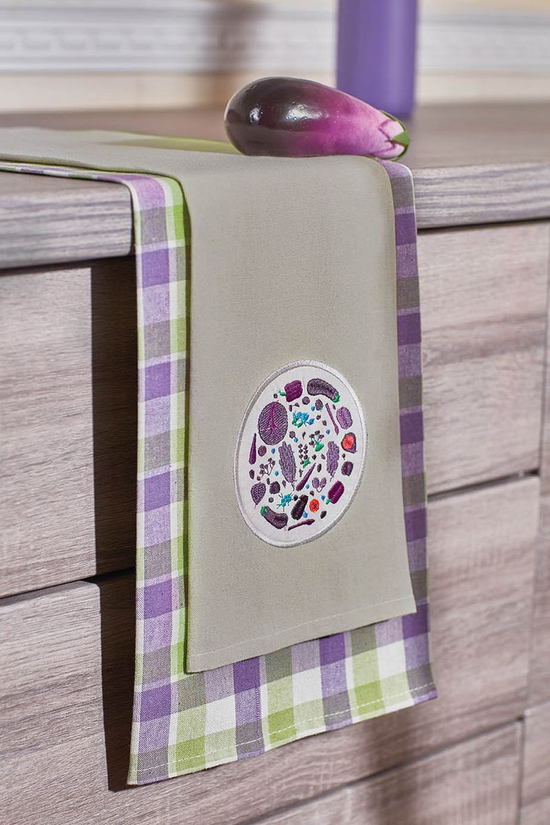 Набор кухонных полотенец Primavelle, цвет: фиолетовый, 40  60 см, 2 шт. НП33740602