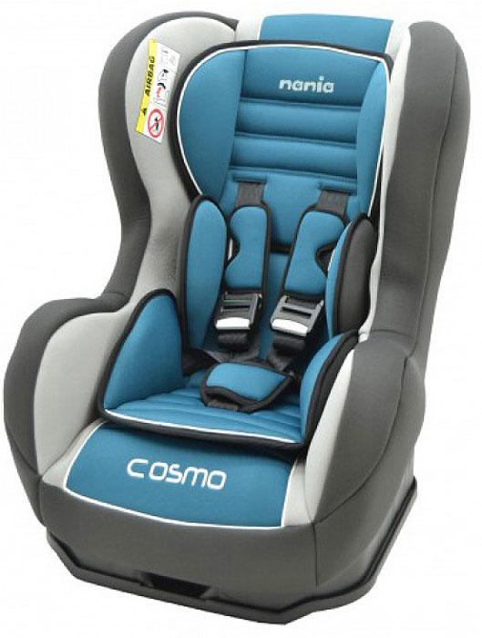 Автокресло Nania Cosmo SP LX гр.0-1 Agora Petrole83009Когда вес ребенка достигнет 9-ти кг, кресло следует устанавливать лицом в направлении движения автомобиля, однако только на заднем сиденье. Конструкция авто-кресел этой группы представляет собой пластиковую основу на силовом каркасе. Благодаря тому, что наклон спинки можно регулировать, малыш сможет спокойно спать во время долгих путешествий.