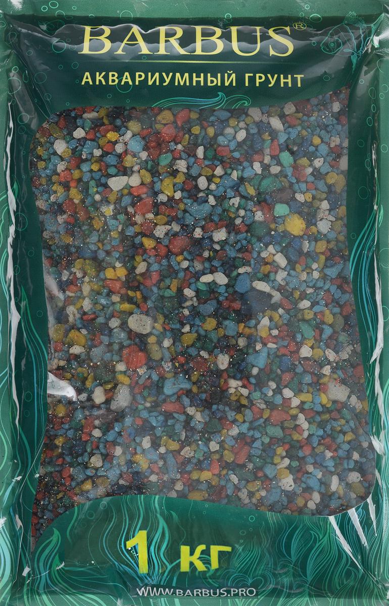 Грунт для аквариума Barbus Премиум. Микс, натуральный, кварц, 2-4 мм, 1 кг щетка аквариумная barbus 1 магнитная всплывающая