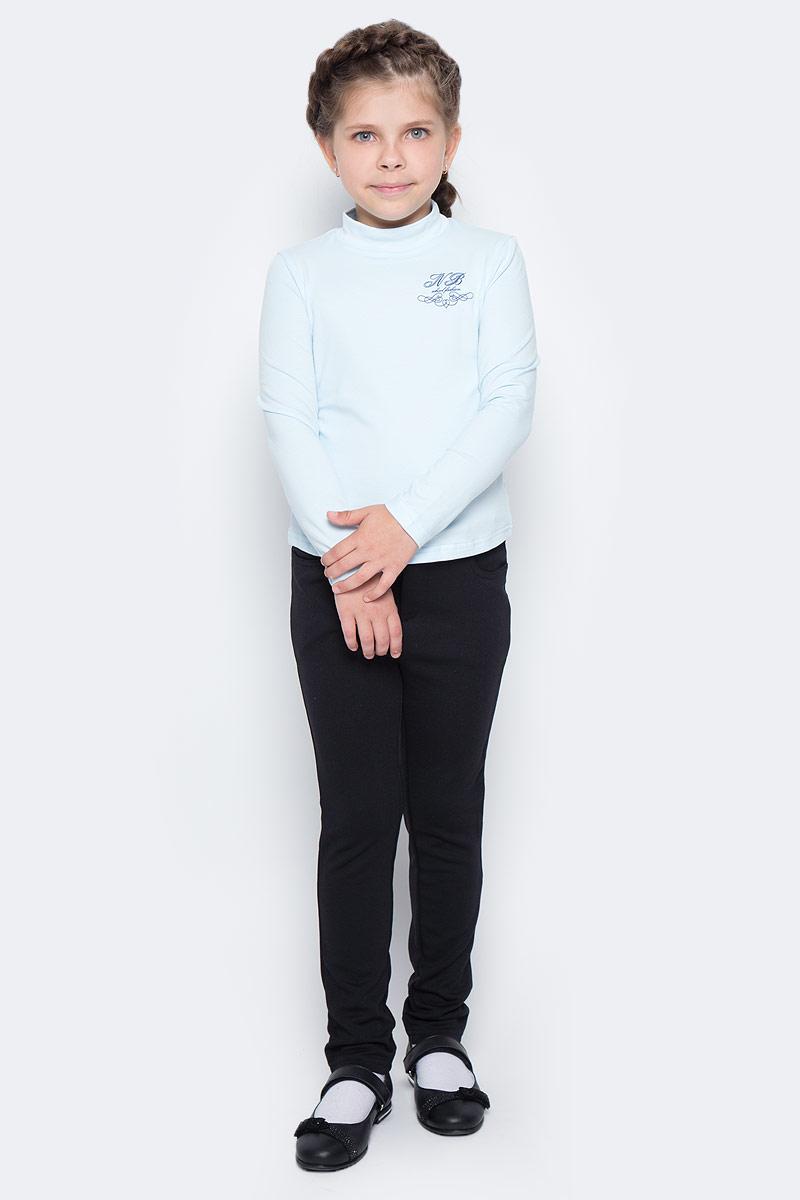 Водолазка для девочки Nota Bene, цвет: голубой. CJR27038B10. Размер 152CJR27038A10/CJR27038B10Водолазка для девочки Nota Bene выполнена из хлопкового трикотажа. Модель с длинными рукавами и воротником-стойкой на груди оформлена принтом.