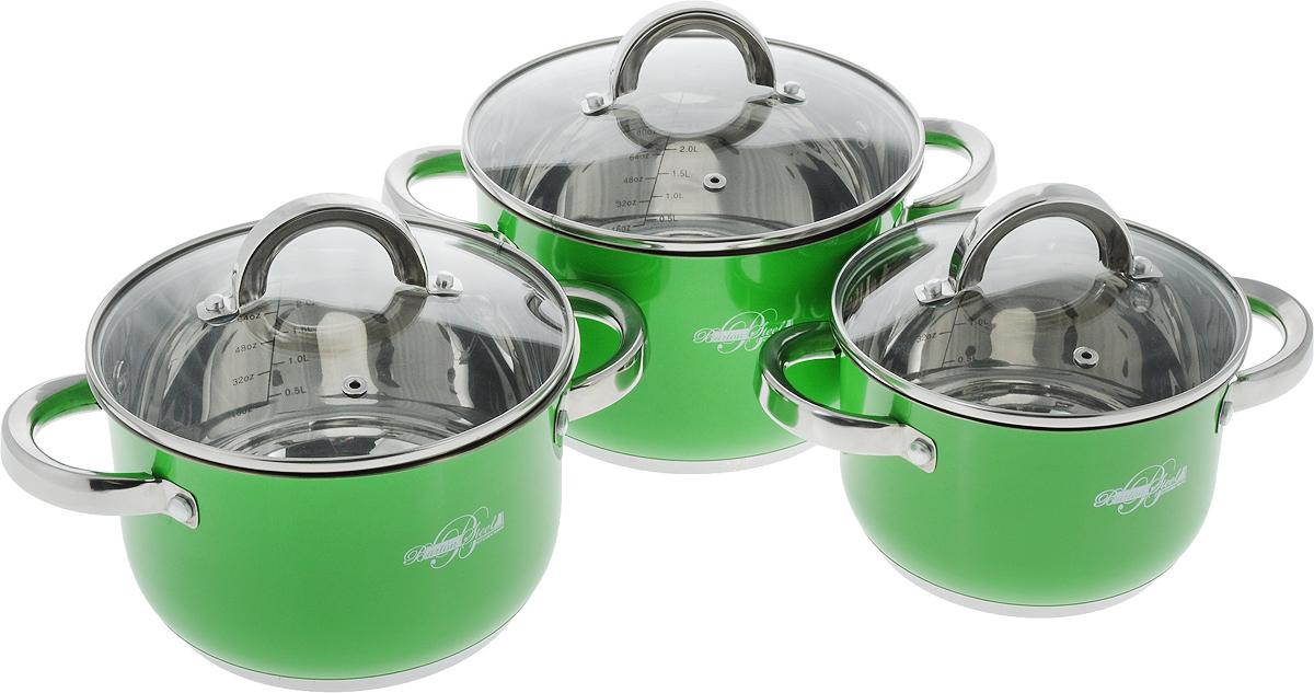 Набор кастрюль  Barton Steel , с крышками, 6 предметов - Посуда для приготовления