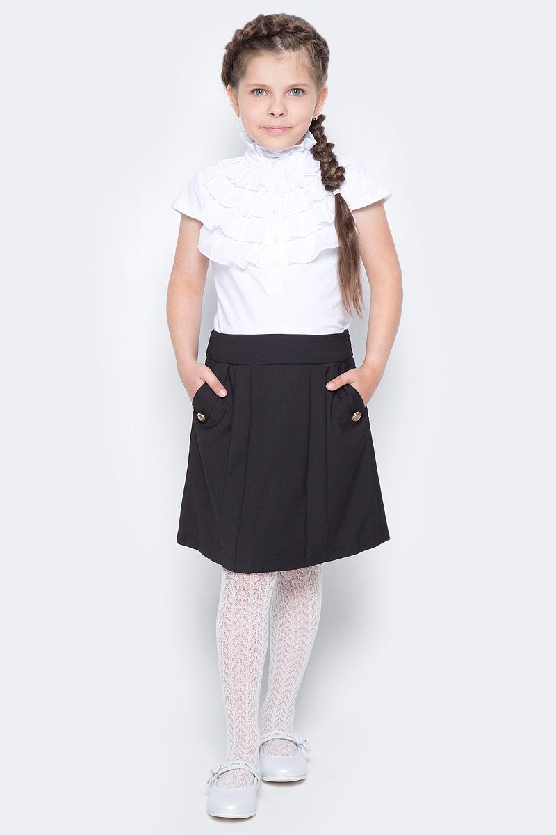 Юбка для девочки Vitacci, цвет: черный. 2173068-03. Размер 152 юбка для девочки vitacci цвет черный 2173043l 03 размер 164