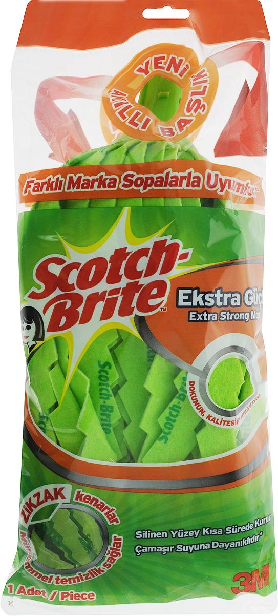 Насадка для швабры Scotch-Brite Экстра, длина 27 см486Сменная насадка для швабры Scotch-Brite Экстра,выполненная из 80% вискозы и 20% полипропилена, подходит длямытья всех видов напольных поверхностей.Изделие имеет свойство впитыватьбольшое количество влаги. Не оставляет ворсиноки разводов. Форма насадкипозволяет справиться с труднодоступнымизагрязнениями.