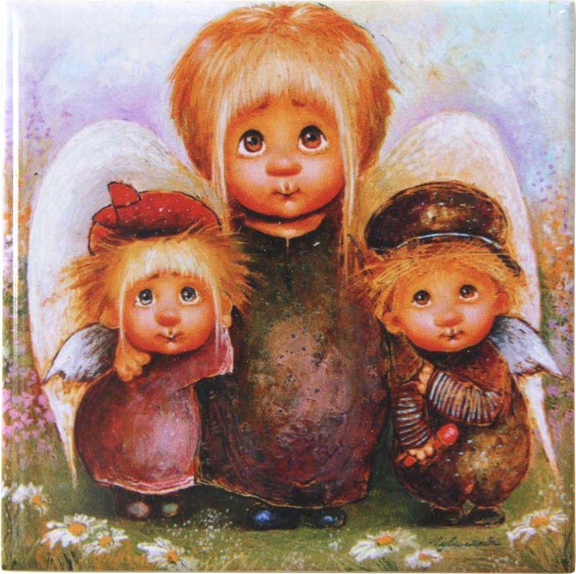 Магнит Artangels Самая лучшая мама. Автор Люся Чувиляева. 10111011Коллекционная керамика на магнитной основе с авторским сертификатом.Размер: 10х10см.