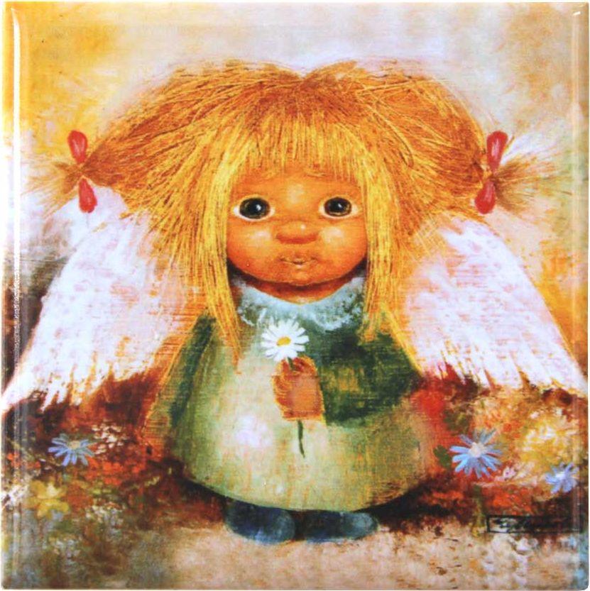 Магнит Artangels Ангел понимания, 10 х 10 см. Автор Люся Чувиляева. 10261026Коллекционная керамика на магнитной основе с авторским сертификатом.Размер: 10х10см.