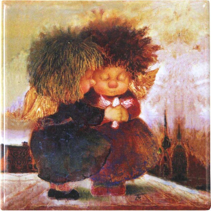 Магнит Artangels Ангелы, исполняющие желания, 10 х 10 см. Автор Галина Чувиляева. 10781087Коллекционная керамика на магнитной основе с авторским сертификатом.Размер: 10х10см.