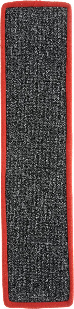 Когтеточка Грызлик Ам, с пропиткой, цвет: красный, серый, 57 х 13 см40.GR.081Когтеточка Грызлик Ам предназначена для стачивания когтей вашей кошки и предотвращения их врастания. Изделие выполнено из ДВП и ковролина, края отделаны искусственным мехом. Изделие снабжено специальными отверстиями для крепления. Ковролин обеспечивает естественный уход за когтями питомца. Специальная пропитка привлекает внимание кошки, что позволяет сохранить неповрежденными мебель и другие предметы интерьера. Прямая когтеточка идеально подходит для крепления на стену.