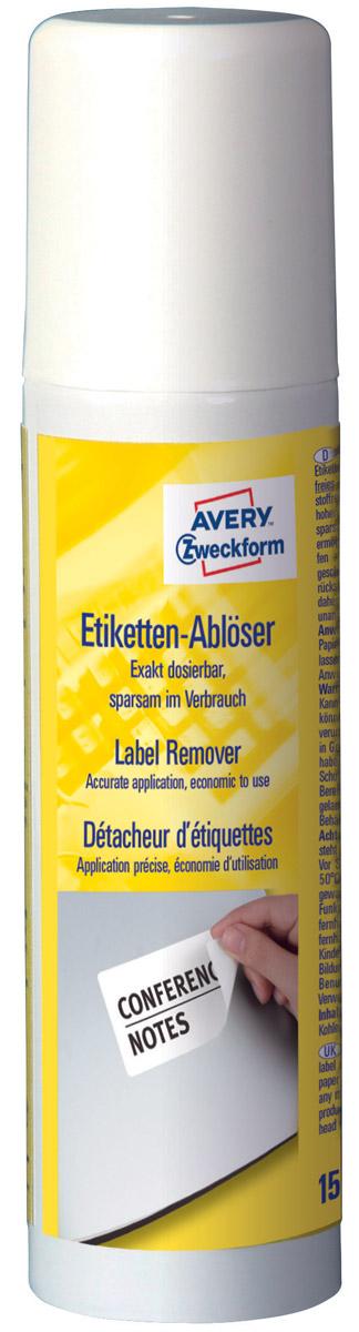 Avery Zweckform Жидкость для удаления этикеток150 мл3590Спрей для удаления этикеток от Avery Zweckform быстро удаляет бумажные этикетки с любой поверхности. Не пачкает руки и поверхность, быстро высыхает. Не оставляет следов, что позволяет повторно использовать документы. Объем 150 мл, бесцветный.