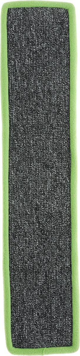 Когтеточка Грызлик Ам, с пропиткой, цвет: салатовый, серый, 55 х 11 см40.GR.001Когтеточка Грызлик Ам предназначена для стачивания когтей вашей кошки и предотвращения их врастания. Изделие выполнено из ДВП и ковролина, края отделаны искусственным мехом. Изделие снабжено специальными отверстиями для крепления. Ковролин обеспечивает естественный уход за когтями питомца. Специальная пропитка привлекает внимание кошки, что позволяет сохранить неповрежденными мебель и другие предметы интерьера. Прямая когтеточка идеально подходит для крепления на стену.