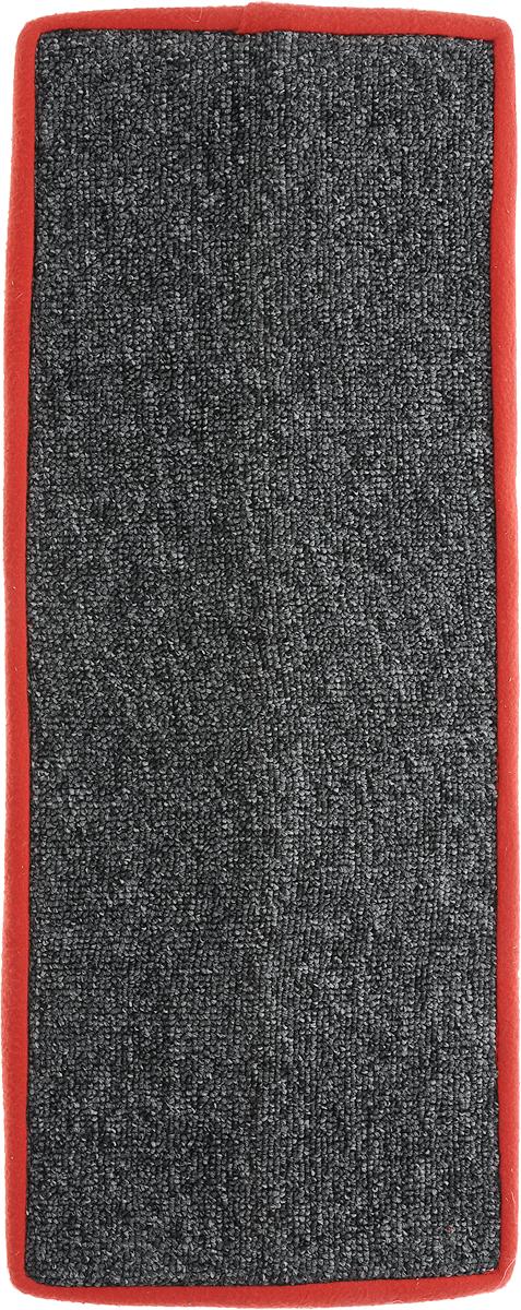 Когтеточка Грызлик Ам, угловая, с пропиткой, цвет: красный, серый, 55 x 11 см40.GR.004Угловая когтеточка Грызлик Ам предназначена для стачивания когтей вашей кошки и предотвращения их врастания. Изделие выполнено из ДВП и ковролина, края отделаны искусственным мехом. Изделие снабжено специальными отверстиями для крепления. Ковролин обеспечивает естественный уход за когтями питомца. Специальная пропитка привлекает внимание кошки, что позволяет сохранить неповрежденными мебель и другие предметы интерьера. Угловая когтеточка может крепиться на смежных поверхностях стен и пола.