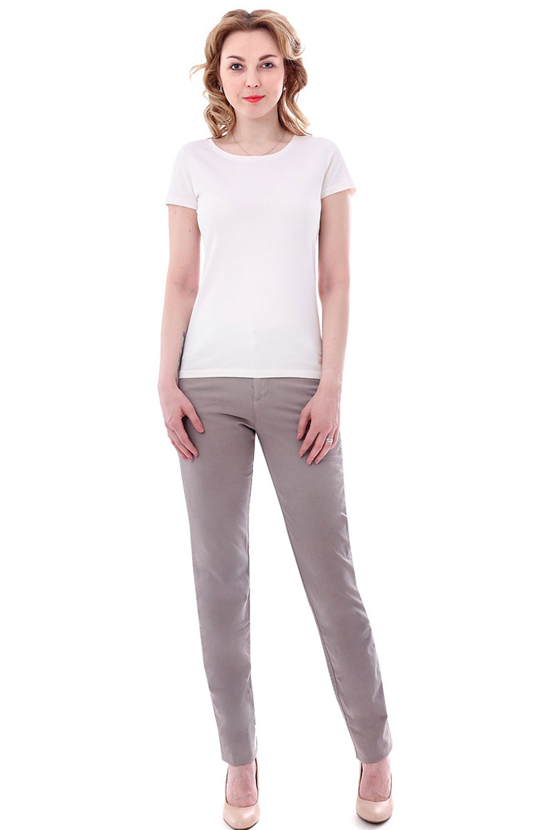 Футболка женская F5, цвет: слоновая кость. 170066_12380/F5/P. Размер XL (50)170066_12380/F5/P, TR Porte, ecruЖенская футболка F5, изготовленная из качественного материала, поможет создать модный образ и станет отличным дополнением к повседневному гардеробу. Модель оформлена вышитым логотипом бренда.