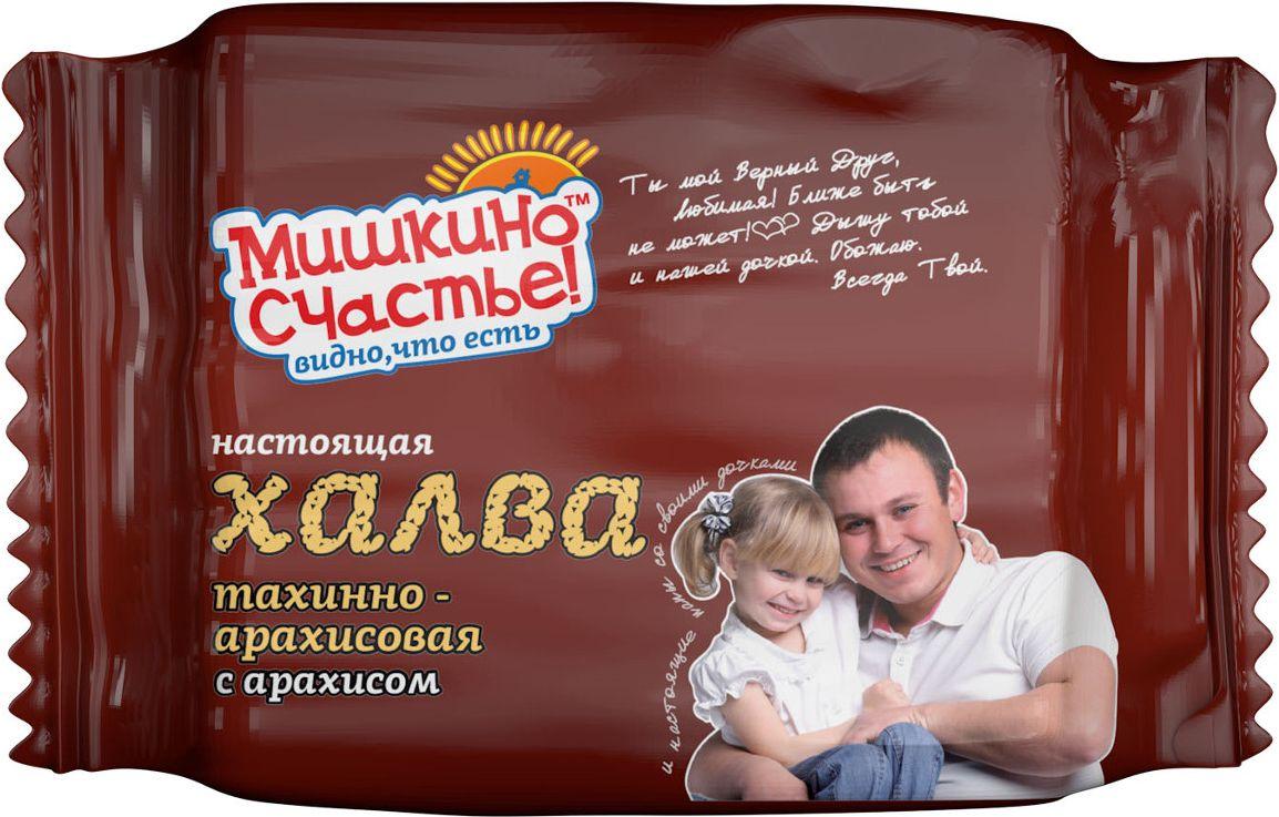 Мишкино счастье халва тахинно-арахисовая с арахисом, 250 г