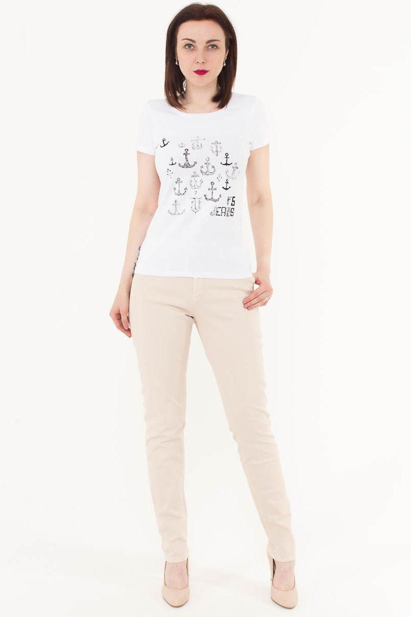 Футболка женская F5, цвет: белый. 170071_12380. Размер L (48)170071_12380/Anchor2, TR Porte, whiteЖенская футболка F5, изготовленная из качественного материала, поможет создать модный образ и станет отличным дополнением к повседневному гардеробу. Модель оформлена оригинальным принтом.