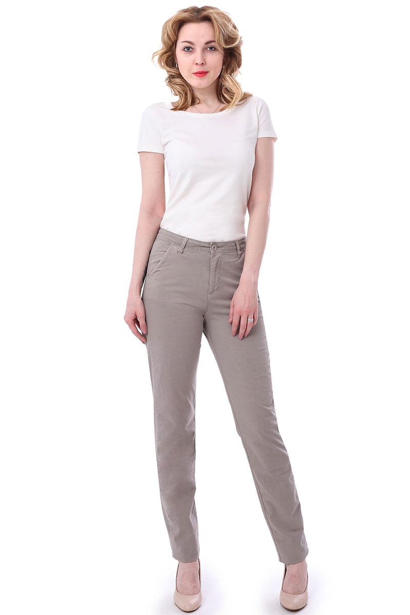Брюки женские F5, цвет: бежевый. 174012_19742. Размер 34-32 (50/52-32) женские брюки лэйт светлый размер 50