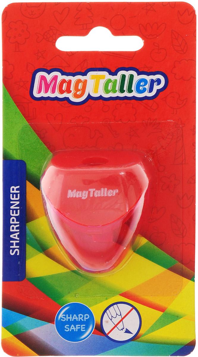 MagTaller Точилка Astia цвет красный604204_красныйТочилка MagTaller Astia предназначена для затачивания классических простых и цветных утолщенных карандашей.В наборе точилка из прочного пластика с контейнером для стружек. Острые лезвия обеспечивают высококачественную и точную заточку деревянных карандашей.