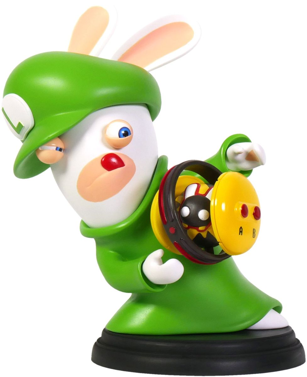 Mario + Rabbids Битва за Королевство. Фигурка Кролик-Луиджи 6 фигурка ubisoft mario rabbids битва за королевство – кролик йоши 8 см