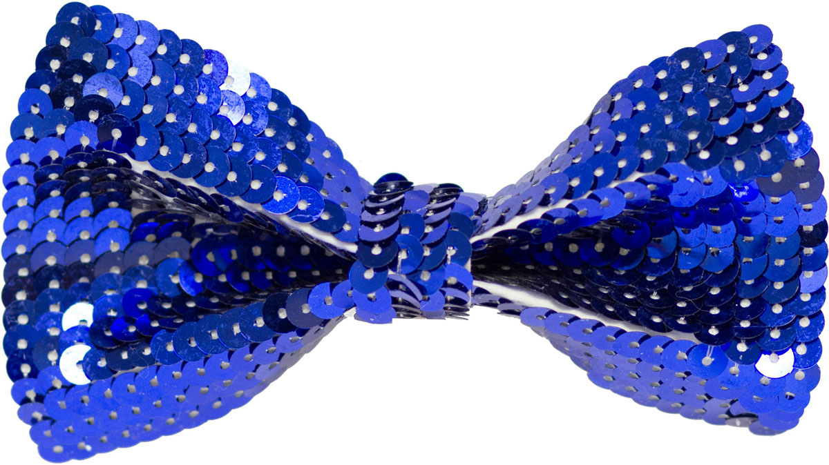 Веселая затея Галстук-бабочка с пайетками цвет синий набор шьем кармашек веселая бабочка 3276
