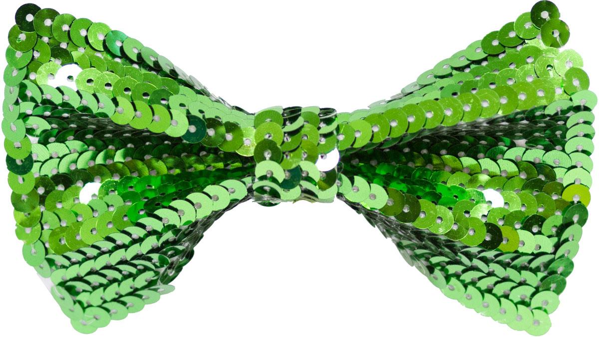 Веселая затея Галстук-бабочка с пайетками цвет зеленый
