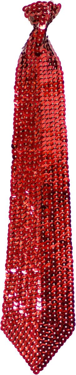 Веселая затея Галстук с пайетками цвет красный