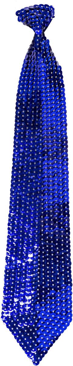 Веселая затея Галстук с пайетками цвет синий
