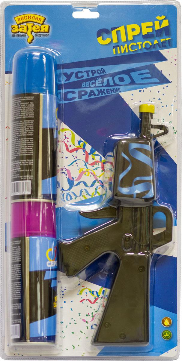Веселая затея Пистолет со спреем-серпантином 250 мл 2 шт 2 баллона аргон красноярск