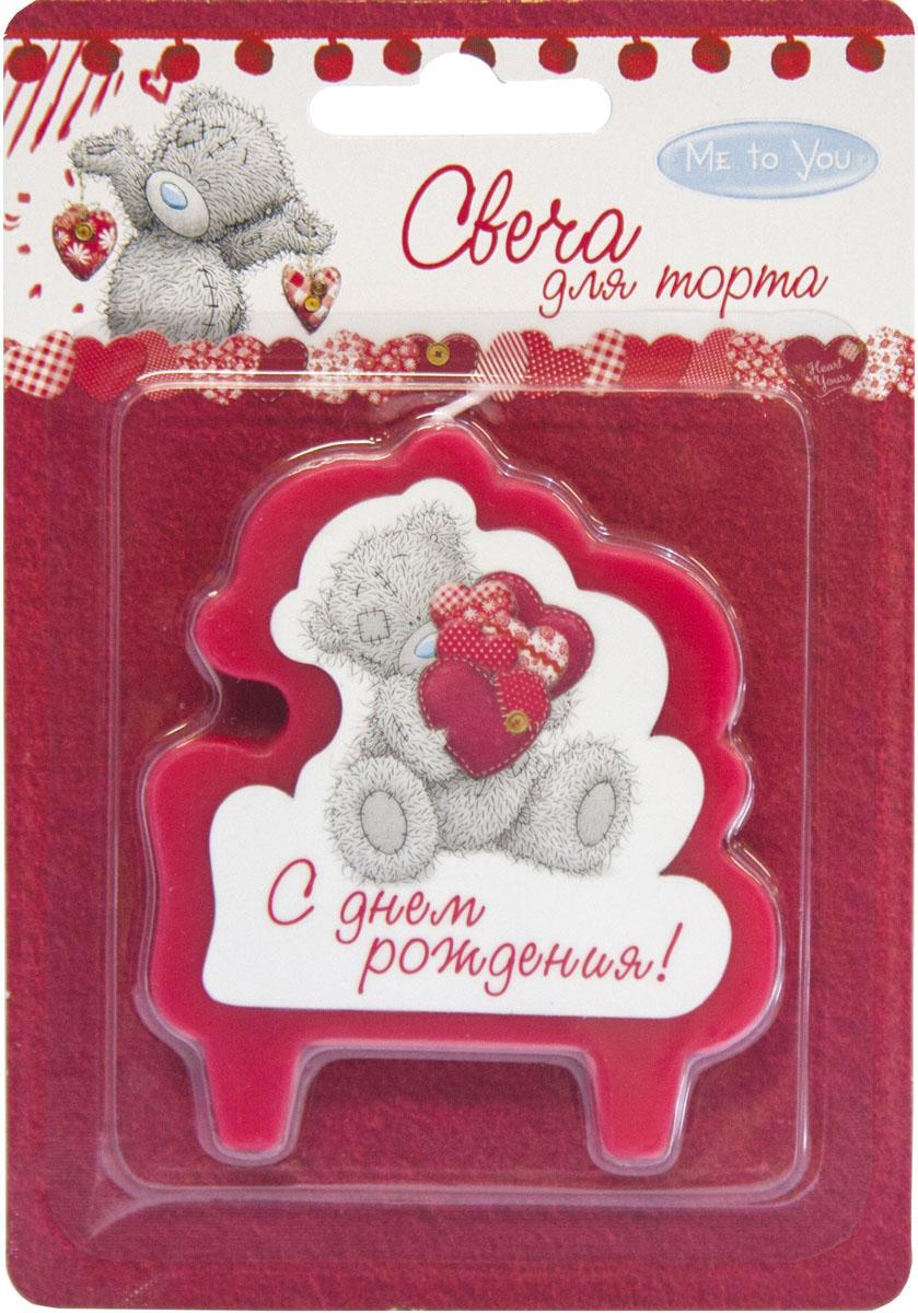 Веселая затея Свеча для торта С днем рождения Me To You цвет красный
