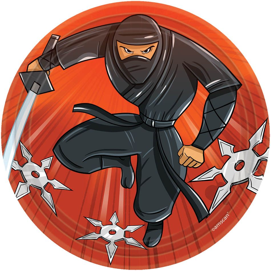 Amscan Тарелка Ninja 17 см 8 шт