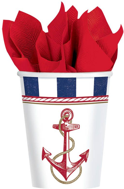 Amscan Стакан Морской 270 мл 8 шт -  Сервировка праздничного стола