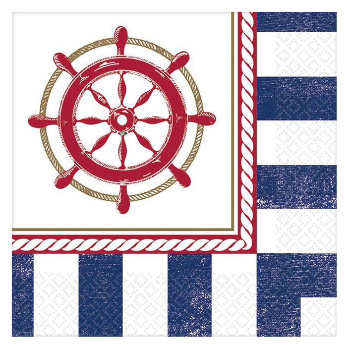 Amscan Салфетка Морская 25 х 25 см 16 шт -  Сервировка праздничного стола