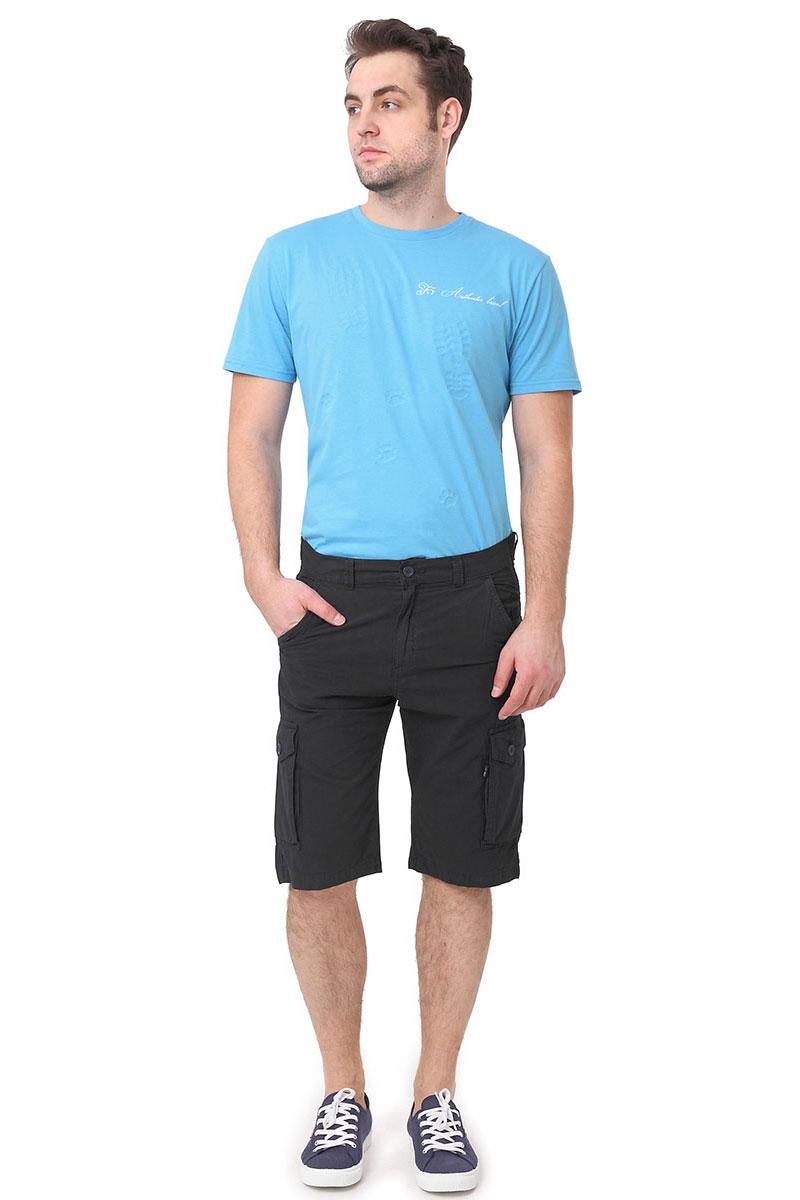 Шорты мужские F5, цвет: темно-синий. 174005_08175. Размер 34 (50)174005_08175, Poplin, dark navyМужские шорты F5 выполнены из высококачественного материала. Модель застегивается на пуговицу в поясе и ширинку на застежке-молнии, дополнены шлевками для ремня. Спереди модель дополнена двумя втачными карманами с косыми срезами. По бокам шорты дополнены карманами.